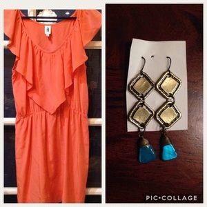 Silk dress and earring bundle